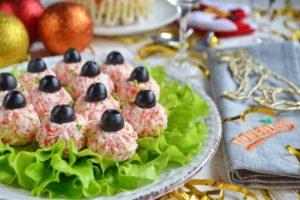 Салат-закуска «Ёлочные шарики»