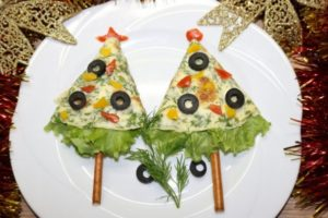 Новогодняя закуска «Ёлка»