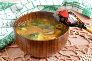 Суп из сухих грибов шиитаке