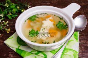 Суп с манными клецками