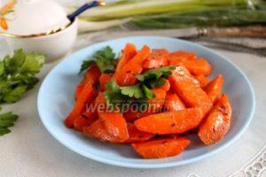 Морковь с тимьяном и мускатным орехом