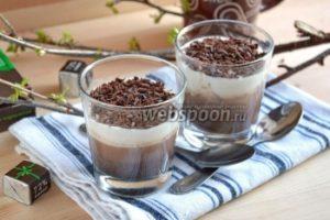 Молочно-шоколадное желе с какао