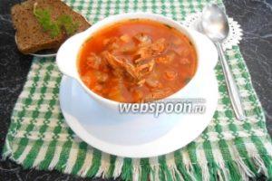 Быстрый борщ с томатным соусом без зажарки в мультиварке
