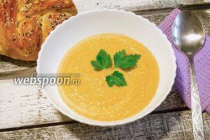 Суп-пюре из нута с вяленными томатами