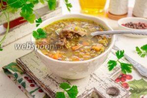 Гречневый суп с куриной печенью