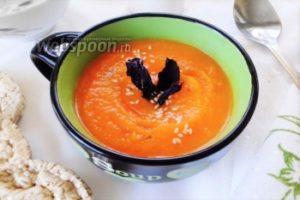 Диетический тыквенно-морковный суп-пюре
