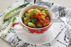 Овощной гарнир с соевым соусом